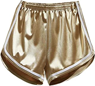 Xswsy XG Women's Sport Shorts Elastic Waist Satin Booty Sexy Short Pants