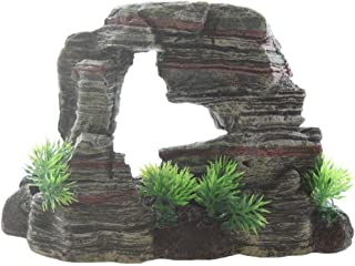 Emours Aquarium Rocks Reptile Hideout Climb Stone Fish Tank Decoration Home Decor