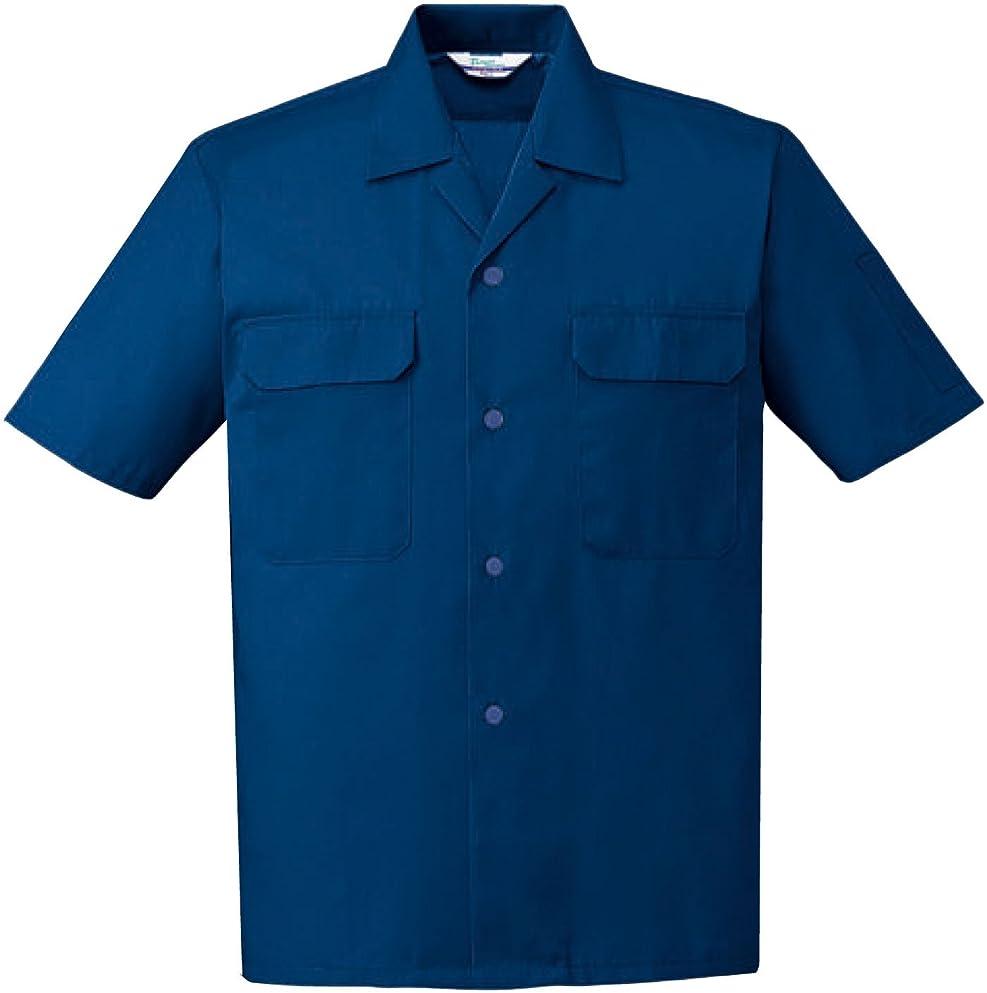アクセスできないフクロウ司書自重堂(JICHODO) 半袖シャツ 作業シャツオープンシャツ jd-6056 ネイビー S