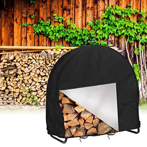 48 Inch Firewood Log Hoop Rack Cover Only Heavy Duty Outdoor Round Ring Loop Wood Storage Holder Cover Circular with Waterproof Zipper WeatherResistant Black