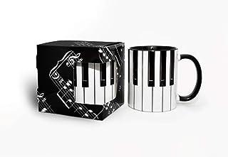 Music Mug, Piano Keys Mug, Piano Keyboard Mug, Musician Mug,