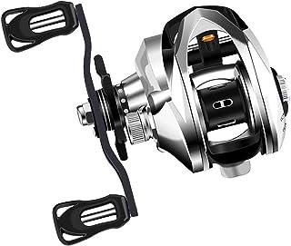 بكرة JIADIAONI Baitcasting بكابح مزدوجة 7. 2: 1 سرعة عالية السرعة لصيد الأسماك بكرة مادة الكربون