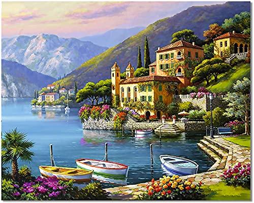 Pintura Por Numeros Con Marco De Madera Marca Bougimal