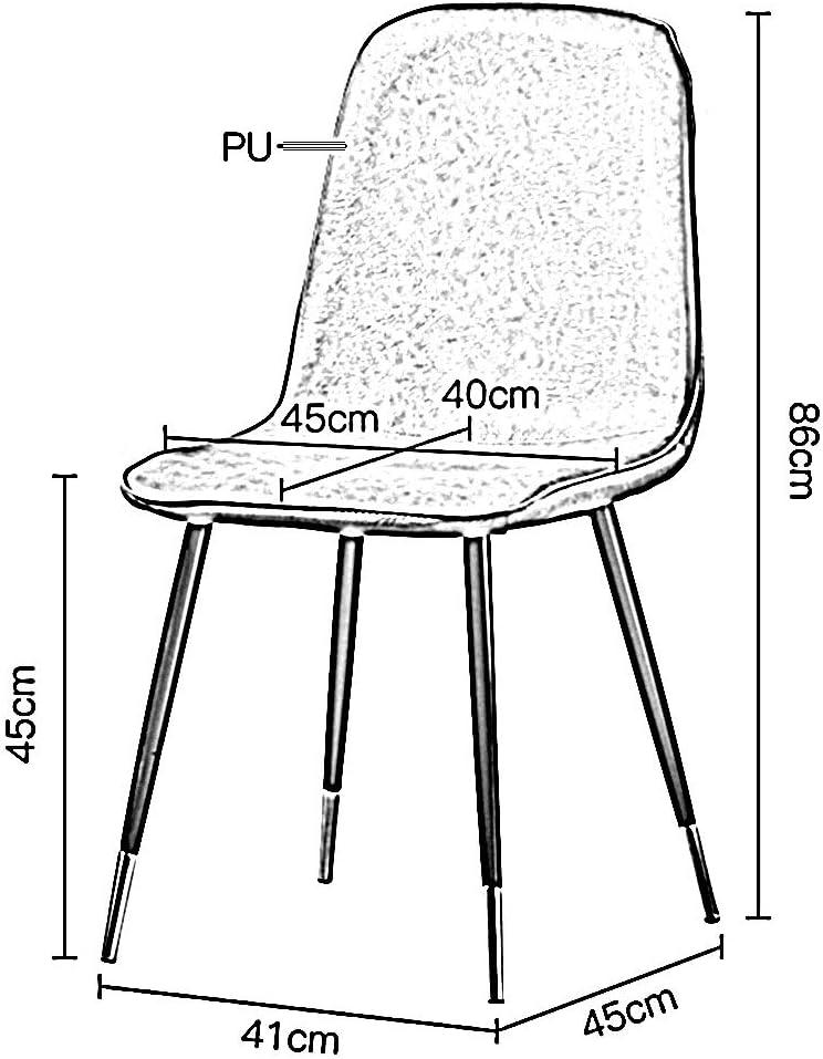 LJFYXZ Chaises Salle Manger Chaise à dossier en fer Moderne simple PU Chaise de ménage Restaurant Café Thé au lait Boutique Chaise créative (Color : Gray) Gray