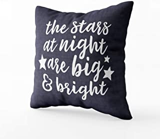 Musesh The Stars at Night Texas White Cushions Case Throw Pillow Cover for Sofa Home Decorative Pillowslip Gift Ideas Household Pillowcase Zippered Pillow Covers 20X20Inch