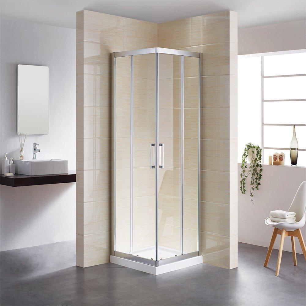 Fácil montierte esquina ducha puerta corredera esquina. Mampara de ducha, 100 x 100 cm, estructura bien diseñado, impermeable, uso de por vida, envío rápido: Amazon.es: Bricolaje y herramientas