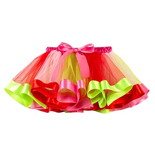 De feuilles Little Girls Layered Rainbow Tutu Skirt with Unicorn Horn Headband Outfits for Birthday Party