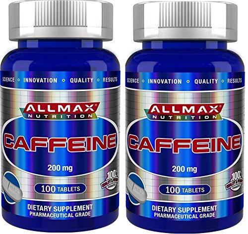 【2個セット】AllMax Nutrition カフェイン 200mg 100錠 [並行輸入品]