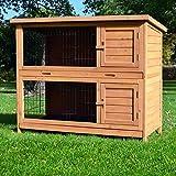 zooprinz Kaninchenstall 05 Hasenkäfig - HOPPEL - Stall für Außenbereich (für Kleintiere: Hasen, Kaninchen, Meerschweinchen usw.)
