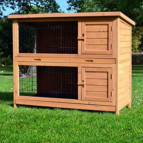 Zooprimus Kaninchenstall 05 Hasenkäfig - HOPPEL - Stall für Außenbereich (für Kleintiere: Hasen, Kaninchen, Meerschweinchen usw.)