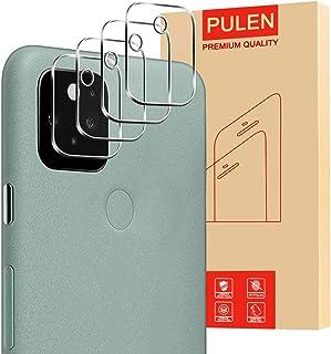 [4 عبوات] PULEN لحامي عدسة الكاميرا Google Pixel 5 ، HD شفاف خالٍ من الفقاعات وسهل التركيب مضاد لبصمات الأصابع زجاج مقاوم ...