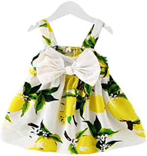Hopscotch Girls Polyester Bow Applique Sleeveless Sleeveless Dress in Yellow Color