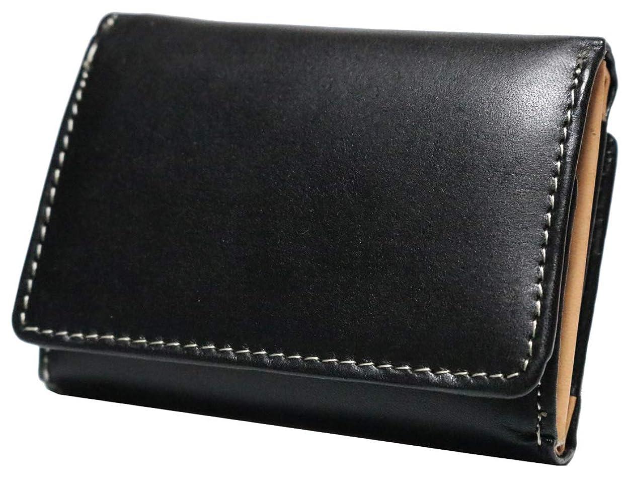 汗特許エロチック上質 栃木レザー 三つ折り財布 コンパクト財布 小さい 薄型 本革 ミニ財布