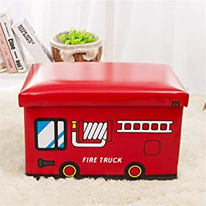 YoLiy Durable Collapsible Jumbo Storage Box Folding Storage Chest Kids Room Tidy Toy Box Perfect For Household Storage  Fabrics Toys For Children  Color Red  Size Free size