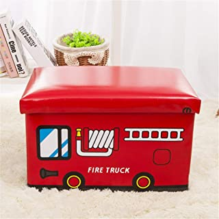 Kids Storage Box Collapsible Jumbo Storage Box Folding Storage Chest Kids Room Tidy Toy Box Perfect For Household Storage  Fabrics Toys for Clothes Shoes Toys Color Red Size Free size