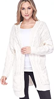 Design by Olivia Women's Open Front Long Sleeve Thin Knit Ultra Soft Cardigan Sweaters
