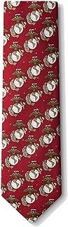 Men's Burgundy Red USMC United States Marine Corps Logo Necktie tie Neckwear