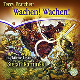 Wachen! Wachen!     Ein Scheibenwelt-Roman              Autor:                                                                                                                                 Terry Pratchett                               Sprecher:                                                                                                                                 Stefan Kaminski                      Spieldauer: 13 Std. und 31 Min.     1.188 Bewertungen     Gesamt 4,7