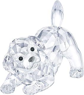 Swarovski Crystal Labrador Puppy Playing Figurine