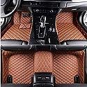 Youthus Benutzerdefiniert Auto Fußmatten Set Fuß Teppiche Boden Fuß Teppiche für BMW 8er M135i M140i M235i M240i M340i M2 M3 M4 M5 M6 M8 Kunstleder Wasserdicht Anti-Rutsch-FußTeppiche Braun