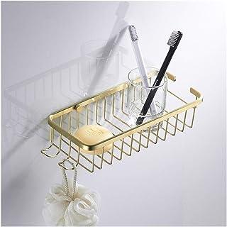 Étagère d'angle Douche Aucun forage d'angle du plateau de douche avec Caddies 2 crochets douche Etagère Salle de bains Org...