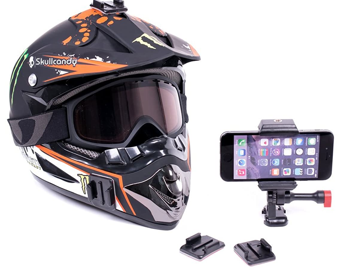 iPhone 6 Helmet & Dash Motorcycle Mount Clip For POV Action Videos, GPS, And Anything Else