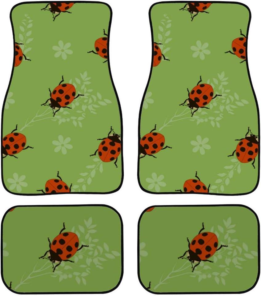 Chawzie 4 Limited price sale Pieces Car Carpet Ladybug Outdoor Creepy Women Kawaii New color