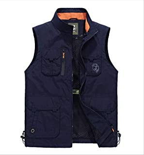 Spring and autumn light outdoor leisure waterproof large size fishing photography multi-pocket vest male