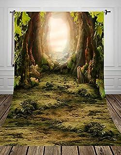 NIVIUS PHOTO 150x300cm Wonderful Forest Tour Waschbar Fotografie Hintergrund für Kinder Fotos D 8270 (DE)