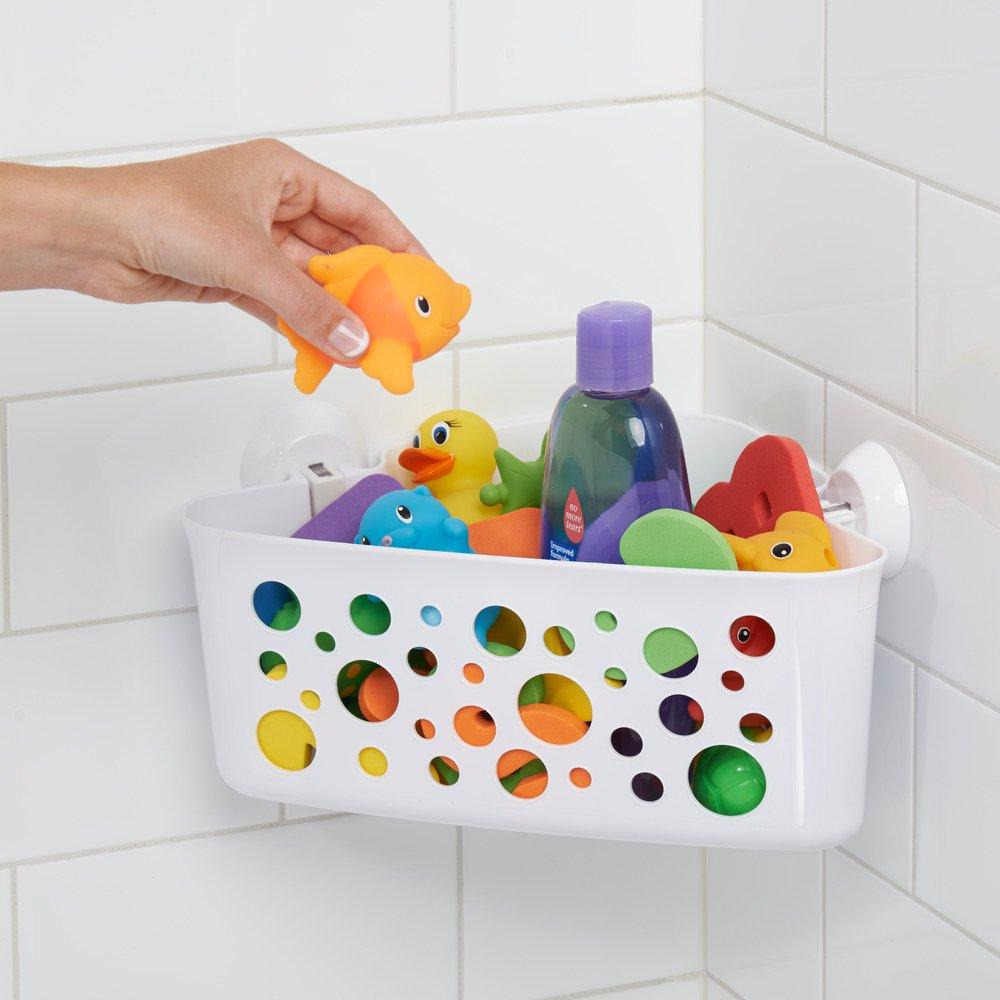 InterDesign Bubblz Estante rinconero con ventosas   Cesta de baño ...