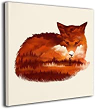MARTOO ART Fox Painted Framed Pictures Printed On Canvas Wall for Office Home Decor..