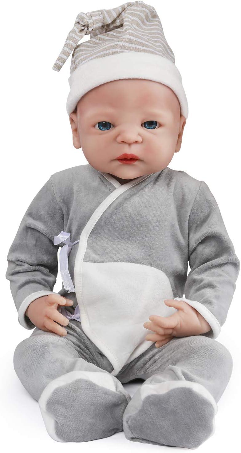 "11/"" Handmade Real Newborn Baby Vinyl Full Body Silicone Realistic Reborn Doll"