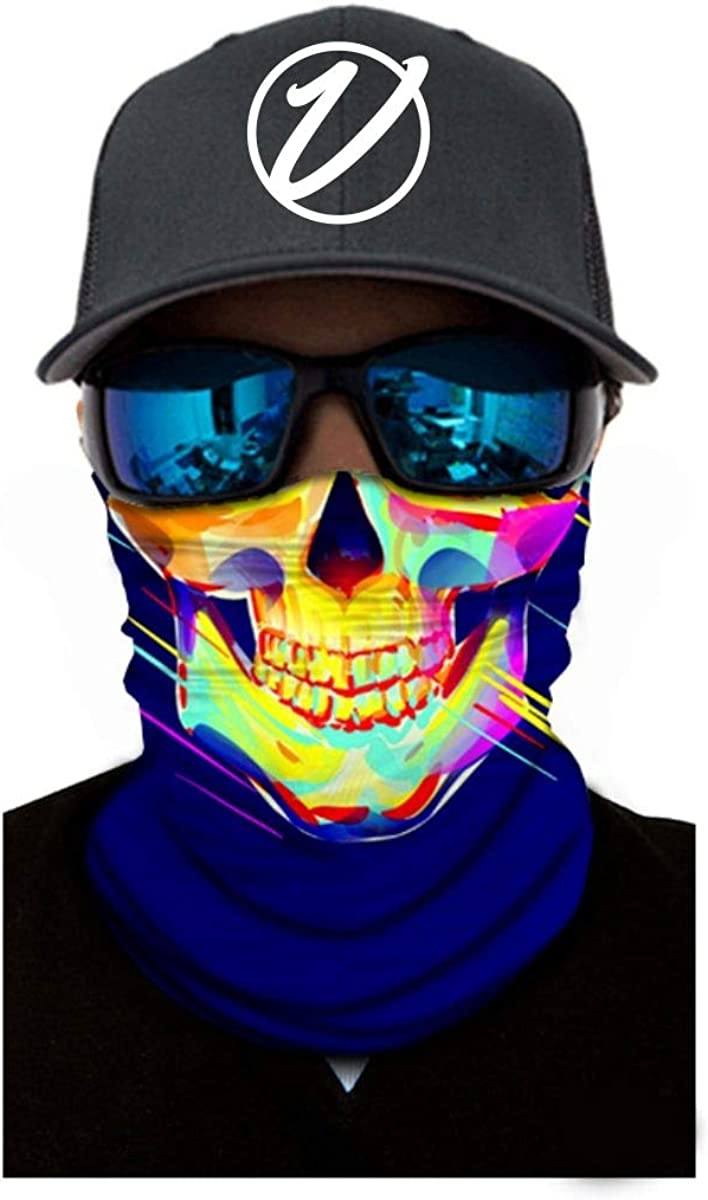 VulgrCo Skulls Fishing Hunting Outdoor Neck Gaiter Face Bandanna