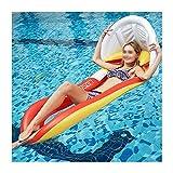 ZXYY Flotador Inflable para Piscina con Tubo, Flotador Divertido para La Playa, Swim Party Toys Summer Pool Balsa Salón para Adultos Niños,Red-160 * 90cm