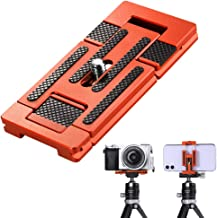 K&F Concept Aluminum Alloy Quick Release Plate with 1/4 Inch Screw for Camera, Cage, Cellphone etc (Orange)