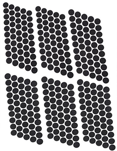 Mini Skater Brand 300Pcs (150 Pairs) 20 mm/0.78 Inch Diameter Self Adhesive Nylon Sticky Back Coins Hook Loop Strips Fastener Round Dot Stickers Tapes for Hanging Sewing Clothing Kids Crafts (Black)