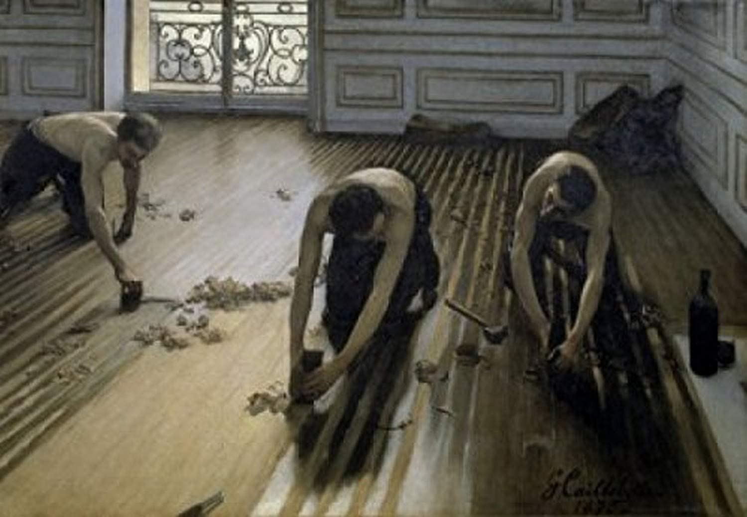Posterazzi The Floor-Scrapers 1875 Gustave Caillebotte Oil on canvas Musee d'Orsay Paris Poster Print, (8 x 10)