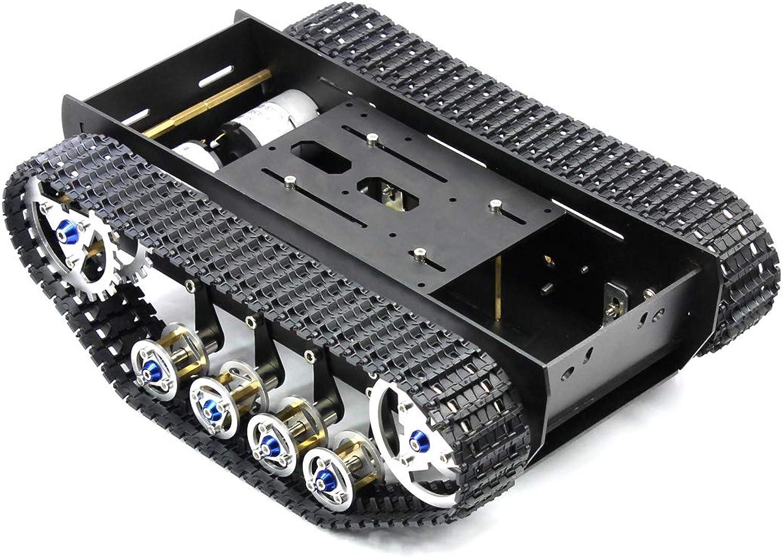 mejor marca FEICHAO Robot Tank Chassis Kit de Bricolaje Hecho a Mano Mano Mano Shock Ligero absorbido Amortiguación del Tanque de Equilibrio Robot Chasis para Arduino  Todos los productos obtienen hasta un 34% de descuento.