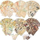 320 Fogli di Carta per Album Forniture Vintage Forniture di Carta per Diario Pagine di Diario Spazzatura Carta Decorativa Estetica Carta per Scrapbooking Materiale per Scrivere Disegnare