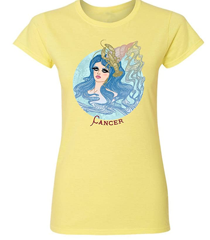Cancer Goddess Zodiac Sign - Astrology Horoscope - 100% Soft Style Cotton Quality Women Shirt