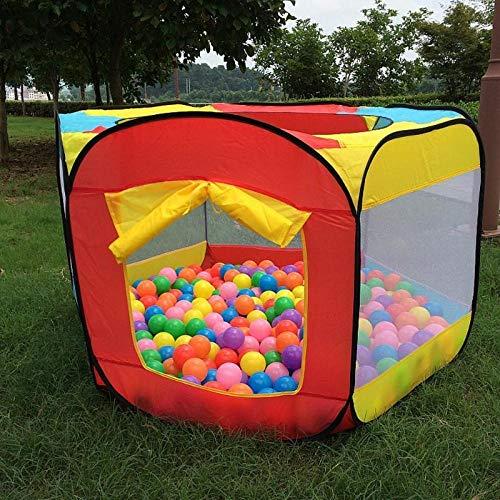 ZHEBEI Al aire libre fácil plegable de la bola de la piscina del juego de la tienda de campaña del juego de la cabaña de la niña del jardín