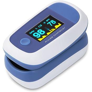 CYBERNOVA Finger Pulsossimetro con il colore di OLED Display-% SpO2 (saturazione di ossigeno del sangue) e cardiofrequenzimetro con istruzioni