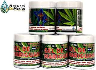 5 New Mariguanol Gel 120 GMS - Super Reinforced with desimflammatory Plant from San Luis Potosi Straight from El Salvador