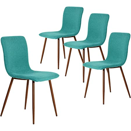 Coavas Fabric Kitchen Dining Room Chairs Set Of 4 Amazon De Home Kitchen
