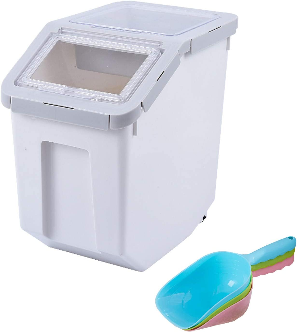 New York Mall PENCKRice Container Storage Pet Dog Plast Airtight Food Fixed price for sale Cat Bin
