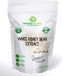 HealthyJourney Superfood - White Kidney Bean Extract Powder - Carb Blocker - Non-GMO - Vegan - Gluten Free - Kosher - Rich...