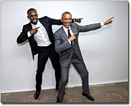 President Obama and Olympic Sprinter Usain Bolt 8x10 Silver Halide Photo Print
