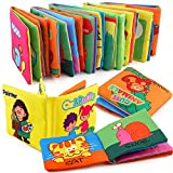 Here Fashion Premium Soft Book for Toddlers, Touch and Feel Crinkle Paper, Nontoxic Fabric Baby...