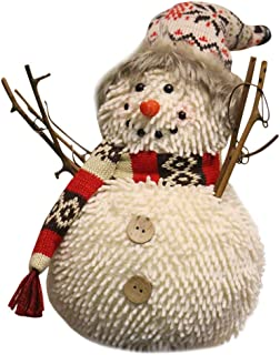 Chenway Christmas Snowman Decorations Christmas Doll Pendant Cartoon Old Man Puppet Hanging Scene Dress Up (B)