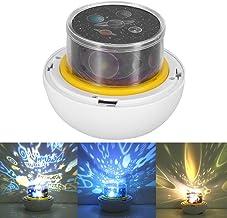 Sterrenhemel projector, nachtlampje, 360 roterende USB-constellatie, nachtlampje, aangedreven door muziek, grote decoratie...